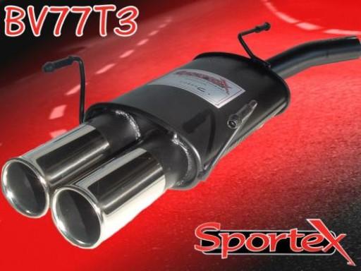 Sportex Vauxhall Corsa C exhaust back box 2000-2006 T3