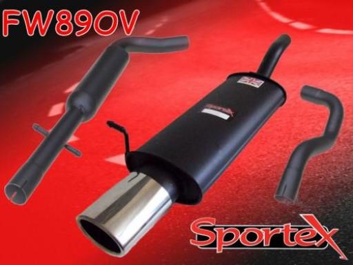 Sportex VW Golf exhaust system 1997-2004 OV
