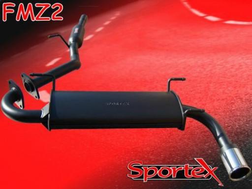 Sportex Mazda MX5 1.6i 1.8i performance exhaust system 1998-2000 S3