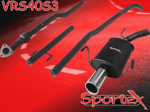 Sportex Vauxhall Corsa C performance exhaust system 2000-2003 S3