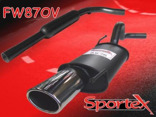 Sportex VW Polo exhaust system 1.4i 16v 1996-2000 OV