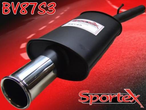 Sportex Vauxhall Astra mk4 exhaust back box 2003-2005 S3