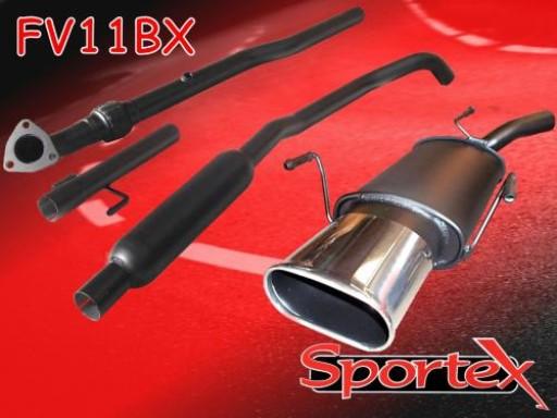 Sportex Vauxhall Corsa C performance exhaust system 2000-2003 BX