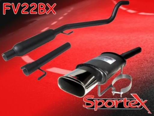 Sportex Vauxhall Astra mk5 1.4i performance exhaust system 2005- BX