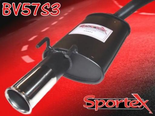 Sportex Vauxhall Corsa B exhaust back box 1.2i 1.4i 1.6i 93-00 S3