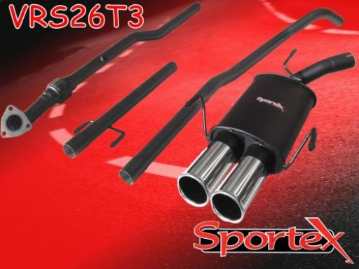 Sportex Vauxhall Corsa C performance exhaust system 2003-2006 T3
