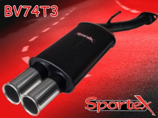 Sportex Vauxhall Astra mk4 exhaust back box 1998-2003 T3