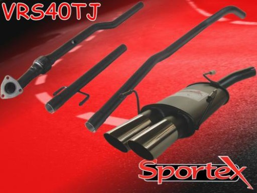 Sportex Vauxhall Corsa C performance exhaust system 2000-2003 TJ