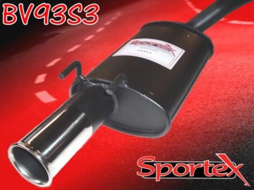 Sportex Vauxhall Corsa B exhaust back box 1.0i 1997-2000 S3
