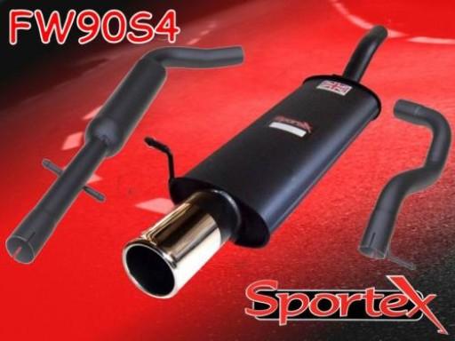 Sportex VW Golf mk4 performance exhaust system 1997-2004 S4