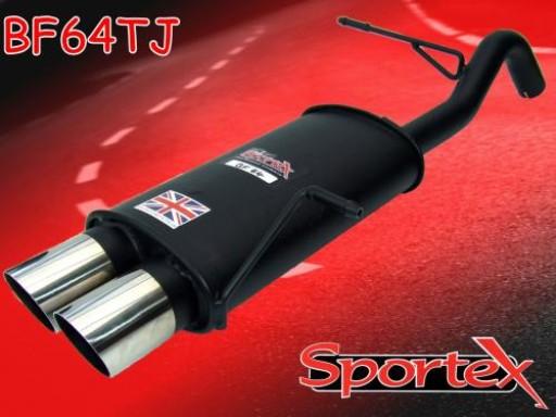 Sportex Ford Fiesta exhaust back box 1.25i 1.4i 2008-2012 TJ