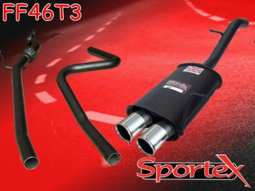 Sportex Ford Fiesta performance exhaust system 2002-2008 T3