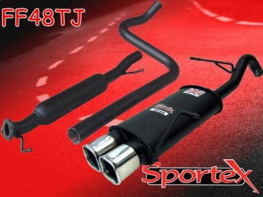 Sportex Ford Fiesta mk7 performance exhaust system 1.6i 2009-2012 TSQ