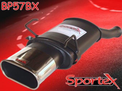 Sportex Peugeot 106 exhaust back box 1.1i 1.4i 2000-2004 BX