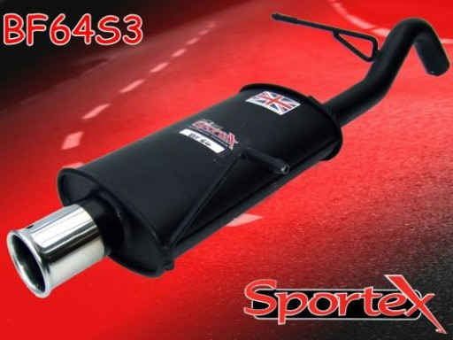Sportex Ford Fiesta exhaust back box 1.25i 1.4i 2008-2012 S3