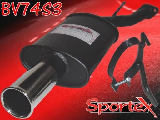 Sportex Vauxhall Astra mk4 exhaust back box 1998-2003 S3
