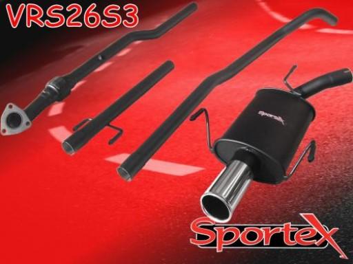 Sportex Vauxhall Corsa C performance exhaust system 2003-2006 S3