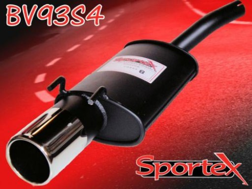 Sportex Vauxhall Corsa B exhaust back box 1.0i 1997-2000 S4