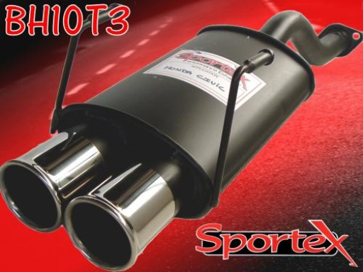 Sportex Honda Civic exhaust back box hatch 1991-2000 T3