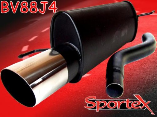 Sportex Vauxhall Corsa D exhaust back box 1.2i, 1.4i 07/2006-2014 J4