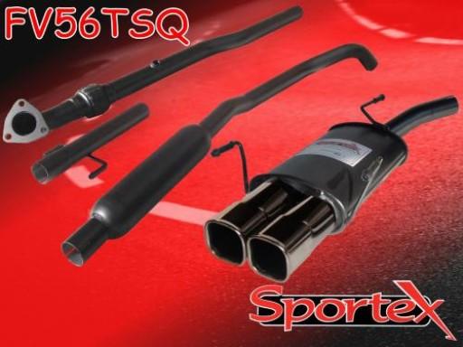 Sportex Vauxhall Corsa C performance exhaust system 2003-2006 TSQ