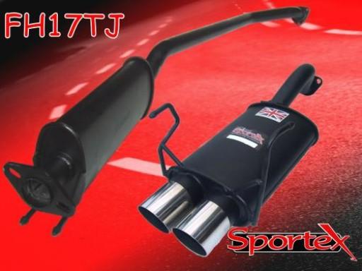 Sportex Honda Civic Type R performance exhaust system EP3 2001-06 TJ