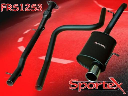 Sportex Ford Fiesta performance exhaust system 1.6i 2001-2008 S3