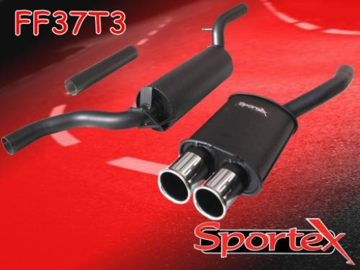 Sportex Ford Focus performance exhaust system 1.6i 1998-2004 T3