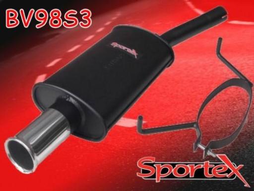 Sportex Vauxhall Astra mk5 1.9CDTi exhaust back box 2005-2010 S3