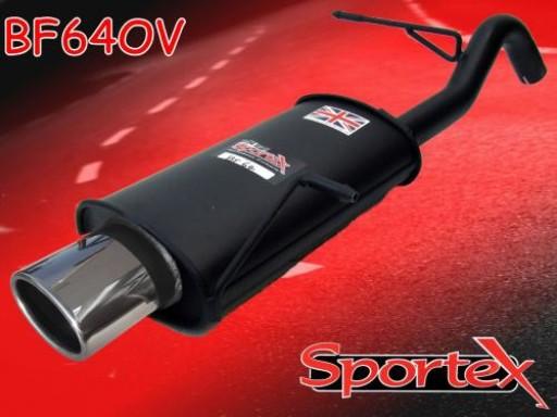 Sportex Ford Fiesta exhaust back box 1.25i 1.4i 2008-2012 OV