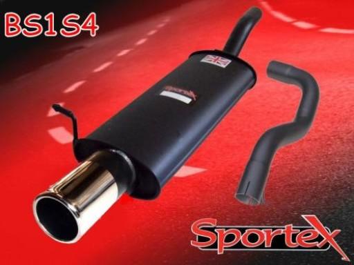 Sportex Seat Leon 1.8T exhaust back box 2000-2005 S4