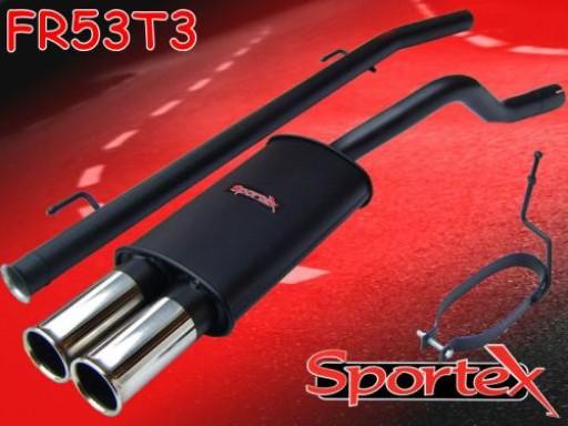 Sportex Renault Clio mk2 performance exhaust system 1998-2005 T3