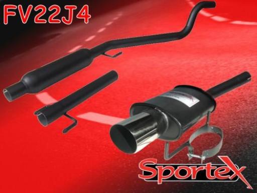 Sportex Vauxhall Astra mk5 1.4i performance exhaust system 2005- J4
