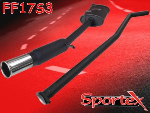 Sportex Ford Fiesta performance exhaust system 1.6 XR2 1984-1989 S3