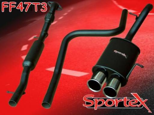 Sportex Ford Fiesta 1.6i performance exhaust system 2002-2008 T3