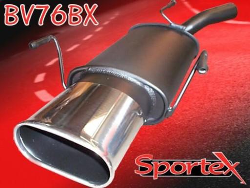 Sportex Vauxhall Corsa C exhaust back box 2000-2006 BX