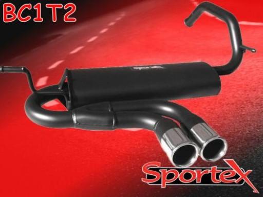 Sportex Citroen C1 performance exhaust back box 1.0i 1.4HDi 2005> T2