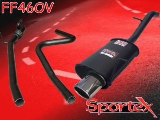 Sportex Ford Fiesta performance exhaust system 2002-2008 OV