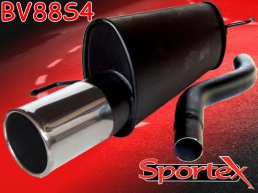 Sportex Vauxhall Corsa D exhaust back box 1.2i 1.4i 07/2006-2014 S4