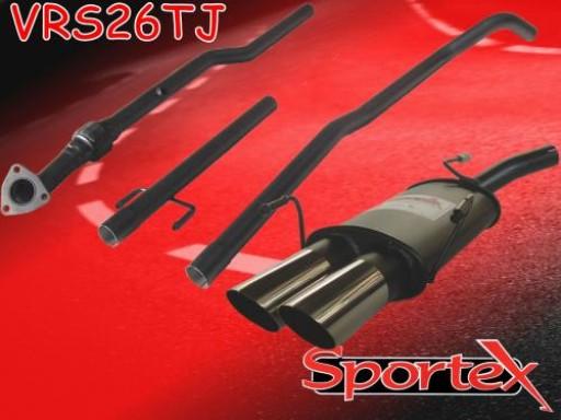 Sportex Vauxhall Corsa C performance exhaust system 2003-2006 TJ