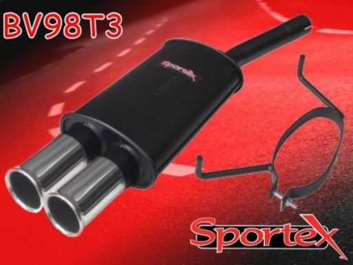 Sportex Vauxhall Astra mk5 1.9CDTi exhaust back box 2005-2010 T3
