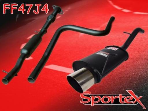 Sportex Ford Fiesta 1.6i performance exhaust system 2002-2008 J4