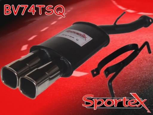 Sportex Vauxhall Astra mk4 exhaust back box 1998-2003 TSQ