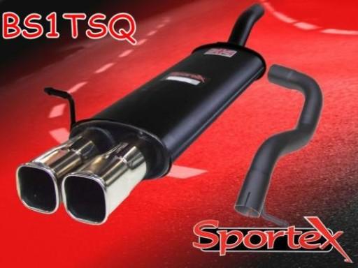 Sportex Seat Leon 1.8T exhaust back box 2000-2005 TSQ