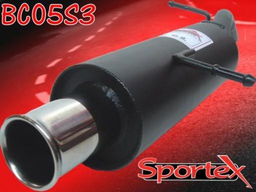 Sportex Citroen C2 performance exhaust back box 1.4 1.6 2003- S3