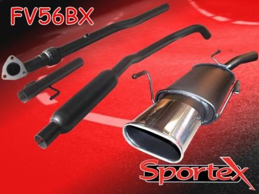 Sportex Vauxhall Corsa C performance exhaust system 2003-2006 BX