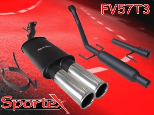 Sportex Vauxhall Astra mk4 performance exhaust system 2000-2004 T3