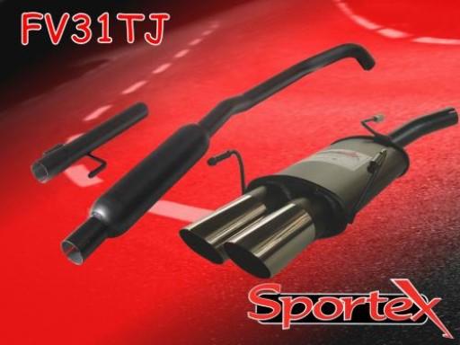 Sportex Vauxhall Corsa C performance exhaust system 2000-2006 TJ