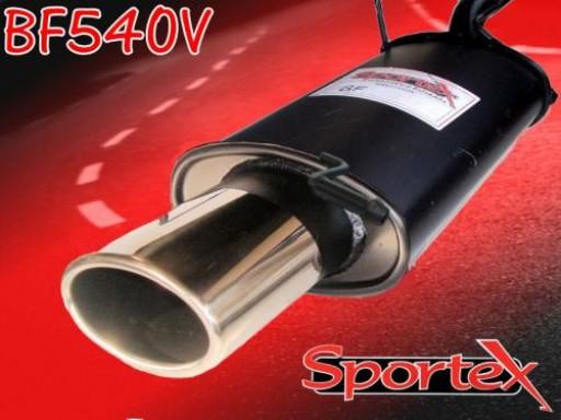 Sportex Ford Fiesta exhaust back box 1.4i 1996-2002 OV