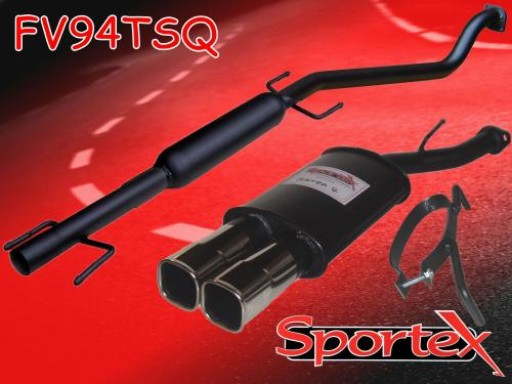 Sportex Vauxhall Astra mk4 performance exhaust system 1998-2004 TSQ